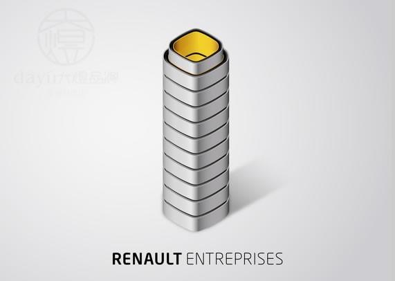法国雷诺汽车最新标志设计欣赏 -苏州标志设计 汽车标志 雷诺 苏州极高清图片