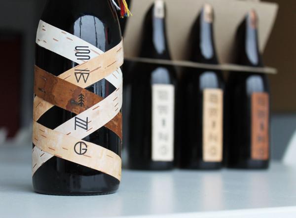 swing葡萄酒酿酒厂产品包装设计